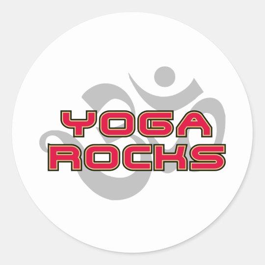 Yoga Rocks Classic Round Sticker