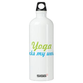 Yoga rocks my world water bottle