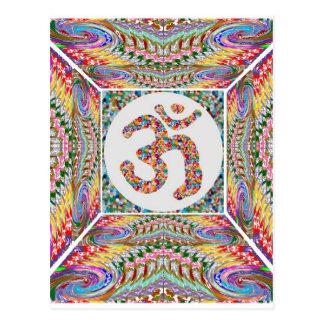 YOGA Room and OM Mantra at Back n Center Postcard