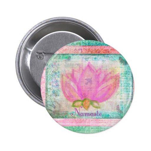 Yoga rosada de Namaste del flor de Lotus