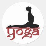Yoga Round Stickers