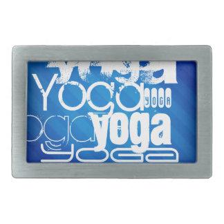 Yoga; Royal Blue Stripes Rectangular Belt Buckles