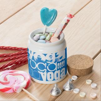 Yoga; Royal Blue Stripes Candy Dishes