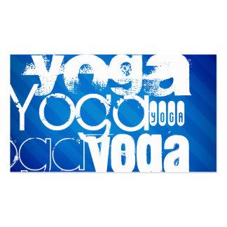 Yoga; Royal Blue Stripes.j Business Card