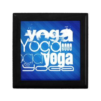 Yoga; Royal Blue Stripes.j Keepsake Box