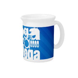 Yoga; Royal Blue Stripes.j Beverage Pitcher