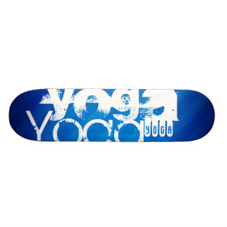 Yoga; Royal Blue Stripes.j Skate Deck