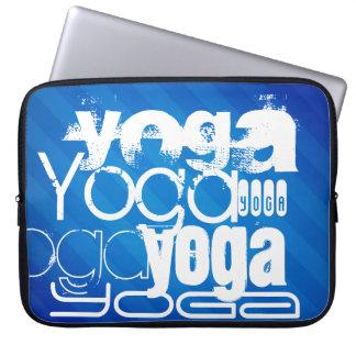 Yoga; Royal Blue Stripes Laptop Computer Sleeves