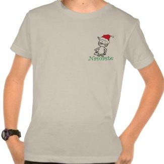 Yoga Santa Cat T Shirt shirt