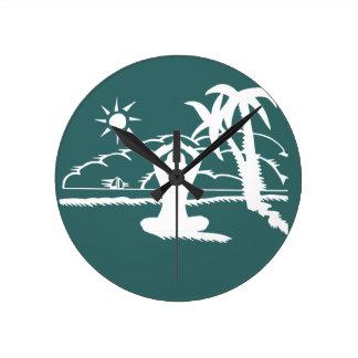 Yoga Scenic Zen Meditation Round Clock