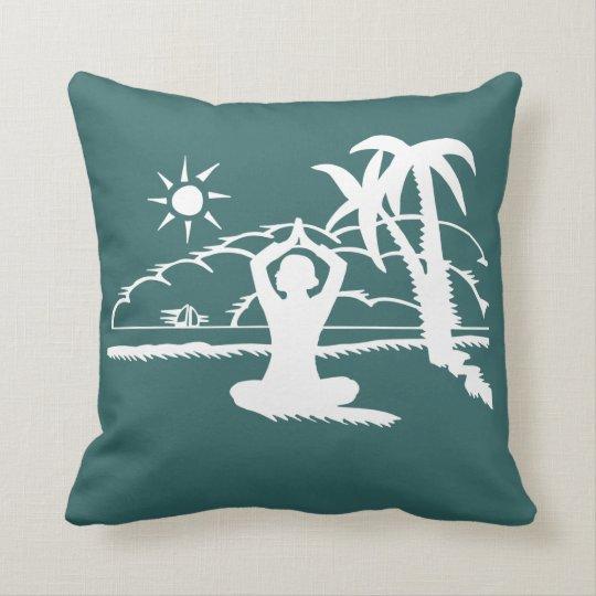 Yoga Scenic Zen Meditation Throw Pillow