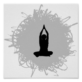Yoga Scribble Style Poster