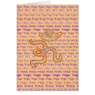 YOGA - script all over different fonts Cards
