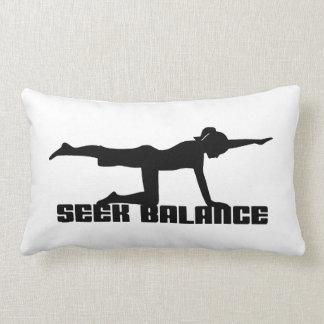Yoga Seek Balance Throw Pillow