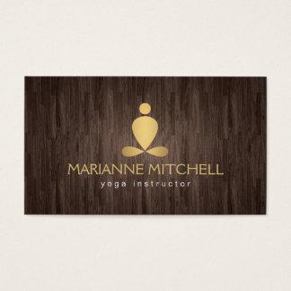 Yoga serena, meditación, mirada de madera del zen tarjetas de visita