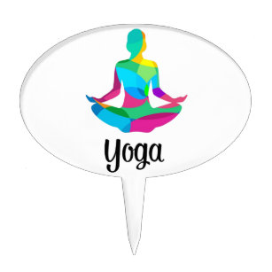 Yoga Cake Toppers | Zazzle