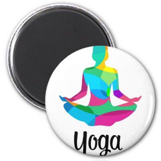 Yoga setting and fitness magnet