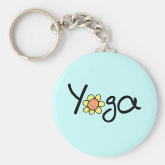 Yoga Shirts and Gifts Basic Round Button Keychain