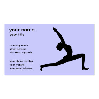 Yoga Silhouette Business Cards Business Cards