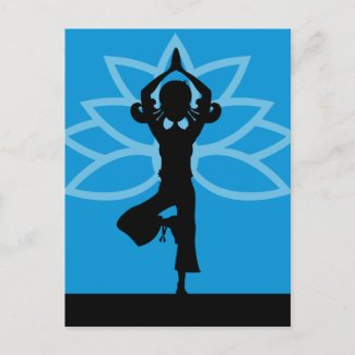 Yoga Silhouette Postcard postcard