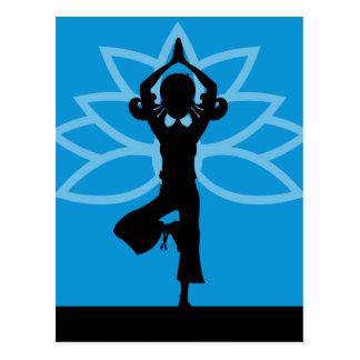 Yoga Silhouette Postcard