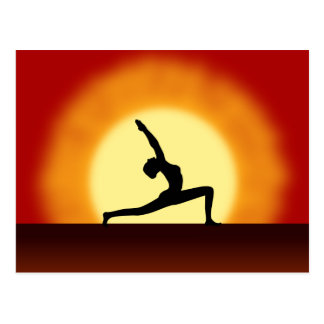 Yoga Silhouette Sunrise Post Cards Postcards Postcards