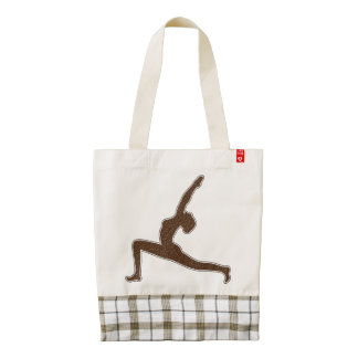 Yoga Silhouette Woman Posing Zazzle HEART Tote Bag