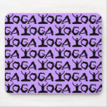 Yoga Silhouettes Mouse Pads