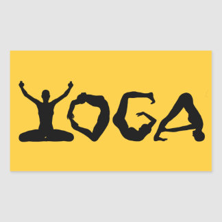 Yoga Silhouettes Sticker