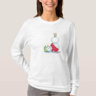Yoga snowman christmas top