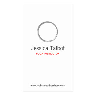 YOGA, SPA, SALON, TRANQUILITY Business Card Pack Of Standard Business Cards