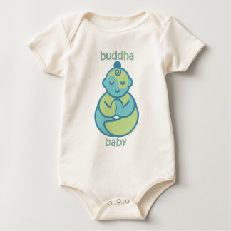 Yoga Speak Baby : Blue Buddha Baby Baby Bodysuit