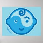 Yoga Speak Baby : Blue Chakra Wise Baby Print