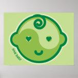 Yoga Speak Baby : Green Chakra Love Baby Print