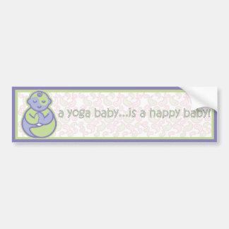 Yoga Speak Baby : Happy Baby Sticker - Purple Car Bumper Sticker