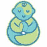 Yoga Speak Baby : Lil' Yogi Pin Photo Sculpture Button