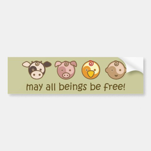 Yoga Speak Baby : May All Beings Be Free Bumper Sticker