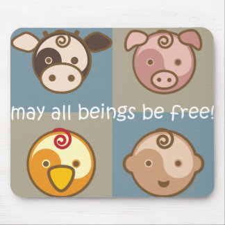 Yoga Speak Baby : May All Beings Be Free! Mouse Pad