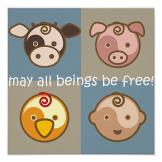Yoga Speak Baby : May All Beings Be Free Poster