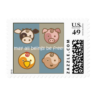 Yoga Speak Baby : May All Beings Be Free! Stamps