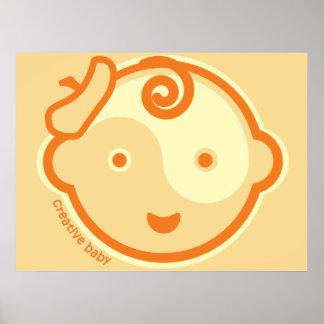 Yoga Speak Baby :Orange Chakra Creative Baby Print