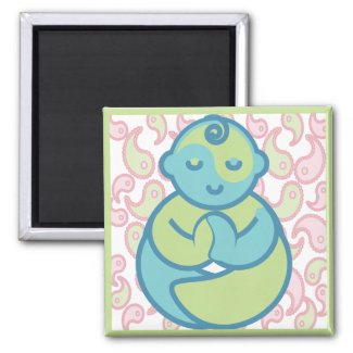 Yoga Speak Baby : Paisley Yoga Baby magnet