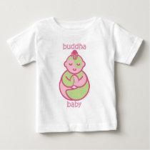 Yoga Speak Baby : Pink  Buddha Baby Baby T-Shirt