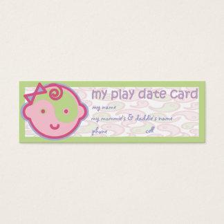 Yoga Speak Baby : Play Date Card