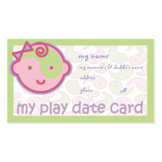 Yoga Speak Baby : Play Date Card Double-Sided Standard Business Cards (Pack Of 100)