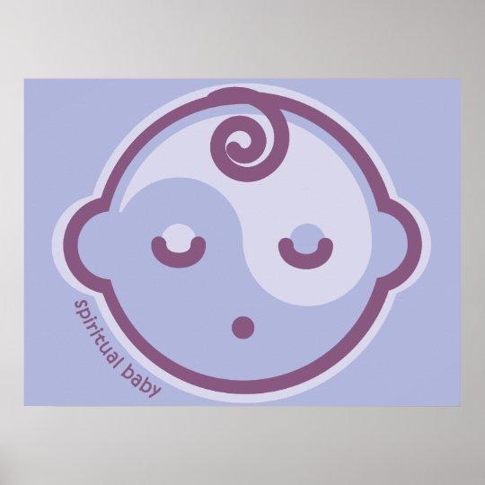 Yoga Speak Baby: Purple Chakra Expressive Baby Poster