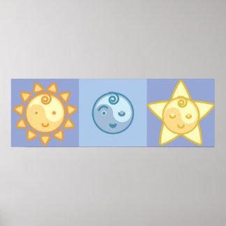 Yoga Speak Baby : The Sun, The Moon & The Stars Poster