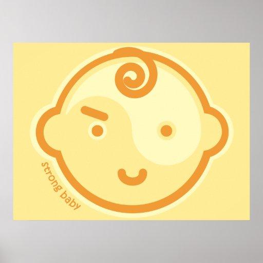 Yoga Speak Baby : Yellow Chakra Strong Baby Print