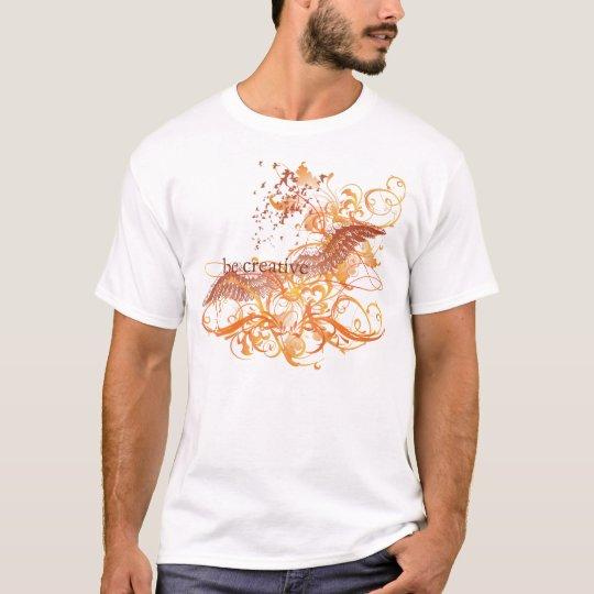 "Yoga Speak : ""Be Creative"" Orange Chakra T-Shirt"