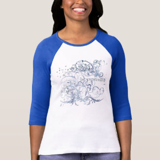 "Yoga Speak : ""Be Expressive"" Blue Chakra T-Shirt"